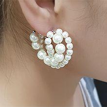 55587耳钉式C形 珍珠 珠子