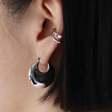 55588耳圈耳扣, 耳夹椭圆形 三件套