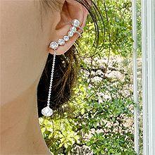 55593耳钉式, 耳夹珍珠 珠子 耳夹