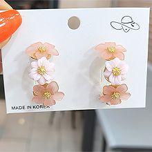 55594耳钉式, 植物花 C形