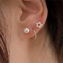 55622耳�式螺旋 珍珠 珠子 整件925�y