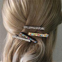 韩系彩钻横夹55532边夹顶夹鸭嘴夹 长方形 圆形 叶子形 椭圆形