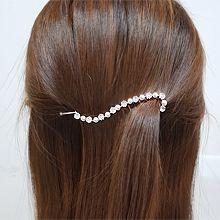 55583边夹顶夹S形 珍珠 珠子 一字夹