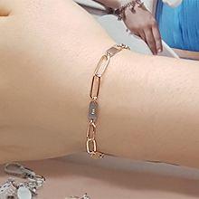 55524锁链形, 单层链椭圆形 整件925银