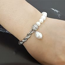 55609穿珠链, 单层链天然珍珠 珠子 巴洛克珍珠