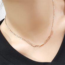 55523锁链形, 单层链椭圆形 整件925银