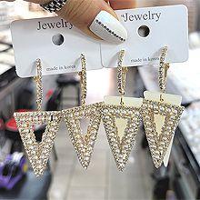 55634耳圈耳扣, 蝴蝶�Y珍珠 珠子 三角形
