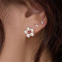 55662耳�式花 珍珠 珠子 �A形 整件925�y