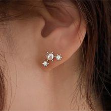 小巧耳�h55663耳�式弧形 珍珠 珠子 整件925�y