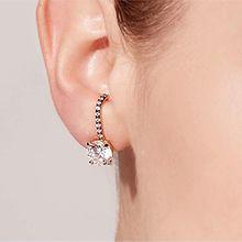 55756耳钉式, 耳夹圆形 四件套