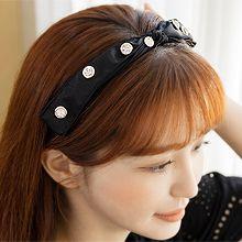 55812发箍发带, 蝴蝶结蝴蝶结 圆形 珍珠 珠子 发箍