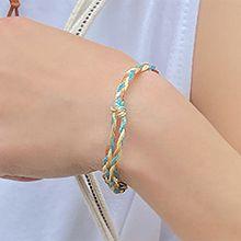 彩色绳手发绳55729绳子形, 单层链麻花