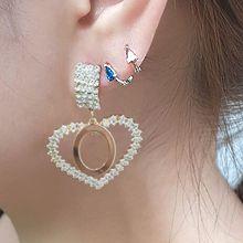 55823耳圈耳扣水滴形  整件925银