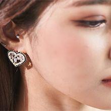 55838耳�式, 心形心形 珠子