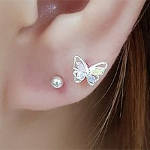 55853耳�式, �游锖�蝶 �L方形 �E�A形 耳骨耳� 整件925�y