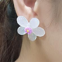 55892耳钉式, 植物花 水滴形