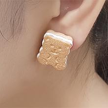 55894耳钉式, 心形, 动物, 食物/饮料心形 熊 饼干