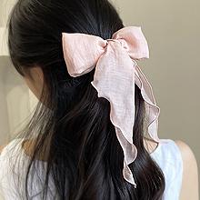30-40发女士发夹55862边夹顶夹, 蝴蝶结蝴蝶结 纯色 弹簧夹