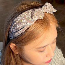 无刘海发箍的戴法55931发箍发带, 蝴蝶结蝴蝶结 花 叶子  发箍