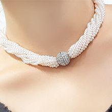 55824穿珠链, 多层链珍珠 珠子 多层 磁铁 圆球
