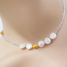 55954穿珠链, 单层链珠子 珍珠 圆形