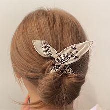 韩国百搭发带56094发圈发绳, 植物盘发 花 花纹 水滴形