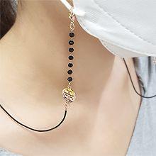韩版气质口罩链56088圆形 珠子 口罩绳 口罩链