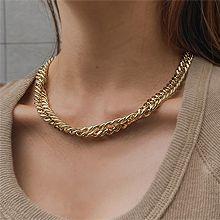 粗大合金锁骨链56048锁链形, 单层链锁链