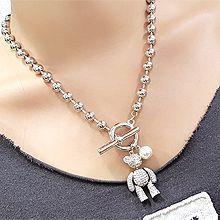 56056珠仔链, 单层链圆环 圆柱形 熊 铁塔 珍珠 珠子