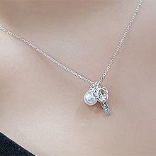 56069锁链形, 单层链, 心形, 字母数字/符号, 动物熊 珍珠 珠子 整件925银 字母 心形