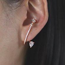 56150耳钉式, 耳夹水滴形