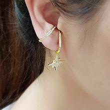 今年新款式耳环56168耳夹星星 耳夹 不对称