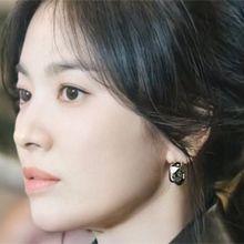 韩国气质耳饰56174耳钉式C形 明星款 宋慧乔