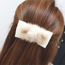 蝴蝶结毛毛发夹56191边夹顶夹, 蝴蝶结蝴蝶结 弹簧夹 毛毛