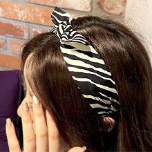韩国发饰头箍56096发箍发带, 蝴蝶结发箍 蝴蝶结 斑马纹 条纹