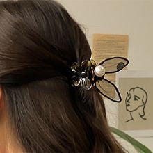 56110爪夹, 蝴蝶结, 植物花 兔耳朵 蝴蝶结 珍珠 珠子