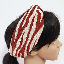 56148发箍发带长方形 编织 斑马纹 交叉