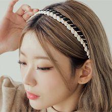 韩国黑白麻花形发卡发箍