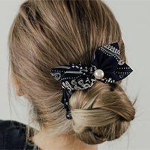 韩国代购后脑勺发卡56175发圈发绳, 蝴蝶结蝴蝶结 珍珠 珠子 花纹 大肠发绳