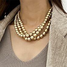 56226穿珠链, 多层链珠子 珍珠 三层